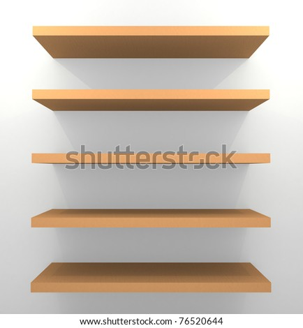 Empty wooden shelves
