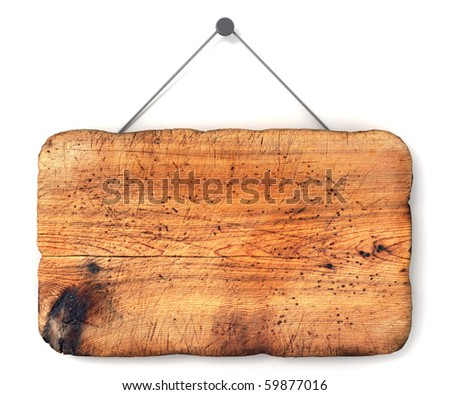 Empty wooden sign