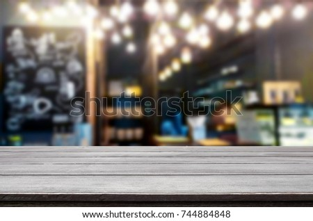 Empty wooden table and room interior decoration background, product montage display, window background. #744884848