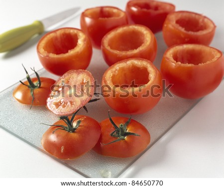 Emptying the tomatoes