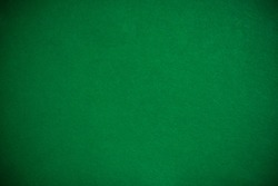 Emty green cloth poker table, template or mock up
