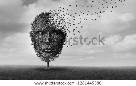 Encephalopathy and brain disease medical idea as an Alzheimer illness as a neuropathology memory loss due to brain degeneration and physical damage as a neurology illness with 3D illustration.