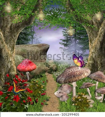 Enchanted nature series - magic pathway