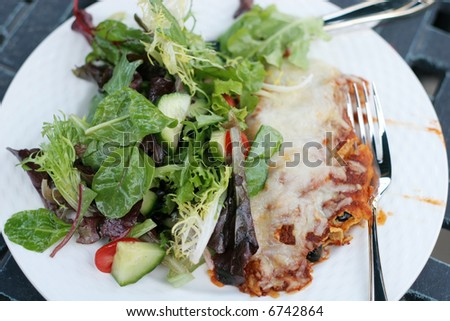 enchilada and salad