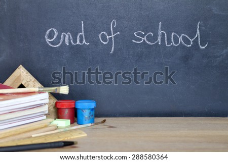 End of school summer camp holiday concept #288580364