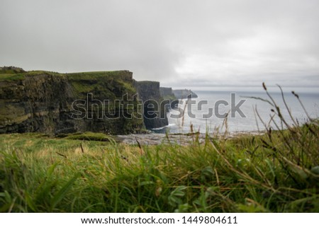End of the world at cliffs of Moher, Cliffs of moher on a cloudy day #1449804611