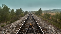 Endless railroad on the east of Russia
