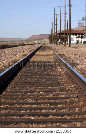 endless rails in the desert - Utah, USA
