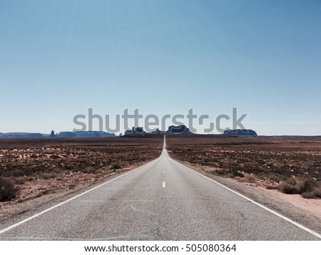 Endless Road, travel across US #505080364