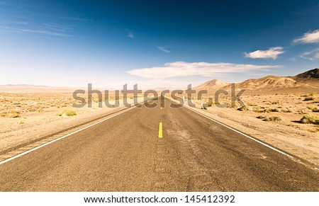 Endless roads in Arizona desert, USA