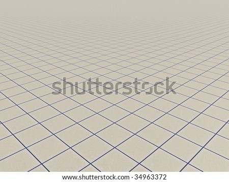 endless surface with tiles - 3d illustration