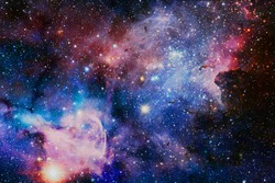 Endless universe. Stars, galaxies and nebulas in awesome cosmic images. Elements of this image furnished by NASA