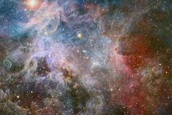 Endless universe with stars and galaxies in outer space. Cosmos art. Elements of this image furnished by NASA.