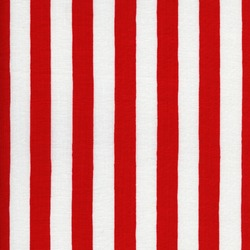 Endless white and red striped fabric