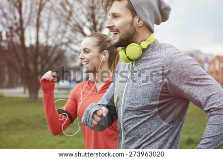 Endorphins during the jogging with girlfriend #273963020