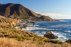 Enduring Coast - The rugged central California coast endures millennia of Pacific surf. Carmel Highlands, California, USA