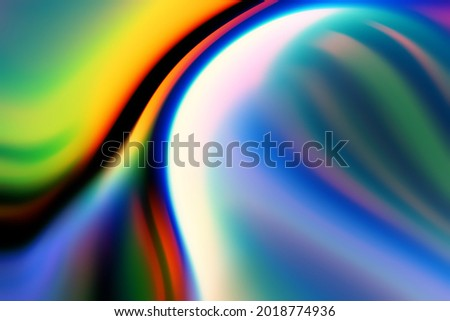 Energetic chromatic light dispersion dreamy effect for content overlay and product mockup. Distorted light wave for abstract and technology design