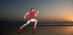 energetic summer. runner feel freedom. hurry up. endurance and stamina.