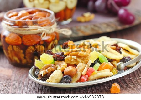 Energy break. Dried fruit and nuts. #616532873