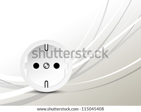 Energy concept - socket - outlet