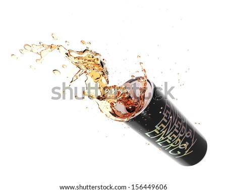 Energy drink splashing