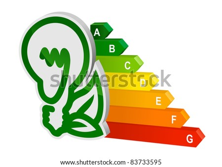 Energy efficiency graph for ecology and environment design. Vector version also available in gallery