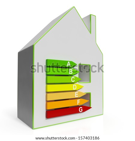 Energy Efficiency Housing Diagram Shows Efficiency Classification
