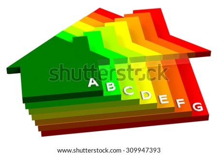 Energy Efficiency, isolated on white background. 3D render.