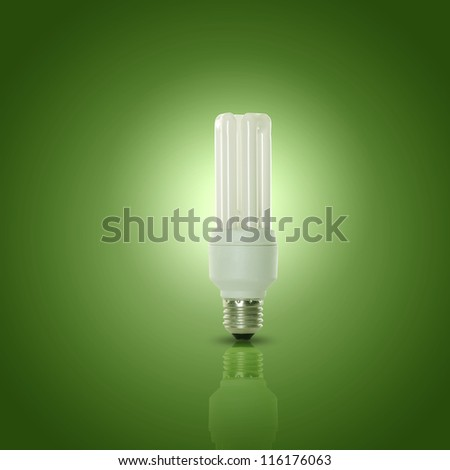Energy efficient CFL compact fluorescent light bulb lamp