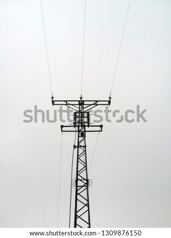 Energy ( Electricity ) Transmission Tower and Transmission Line #1309876150