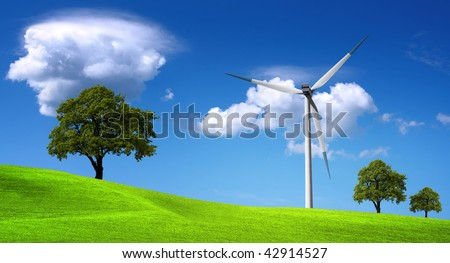 Energy resources, wind turbine and clean environment