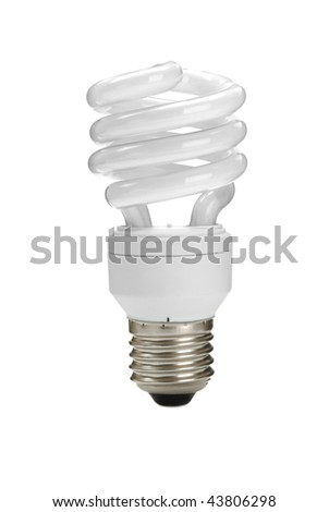 energy-saving bulb on white background