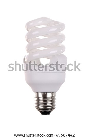energy saving bulb on white background