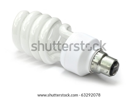 Energy saving bulb over white background