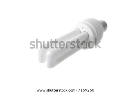 Energy saving lamp isolated on white