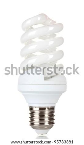 Energy saving lamp isolated on white