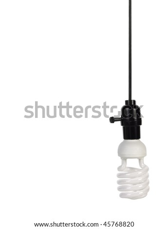 Energy saving light bulb with clipping path - stock photo