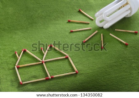 Energy saving setup made out of matchsticks