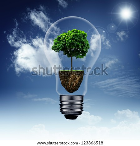 Energy savings and eco backgrounds for your design