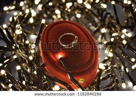 Engagement ring christmas #1182840286
