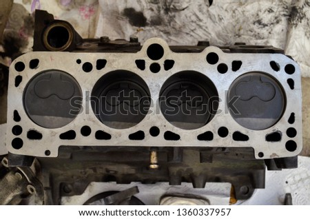 engine block and pistons