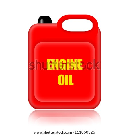 Engine oil canister isolated on white background