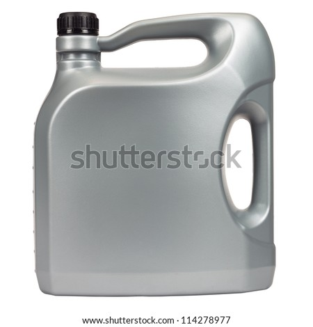 Engine oil in a typical five liter container