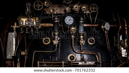 engine room on steam train
