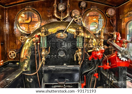 Engine room on the steam train