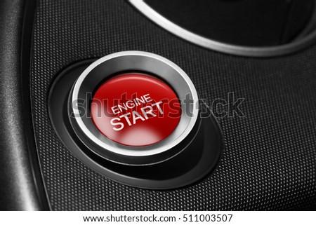 Engine start button of a car