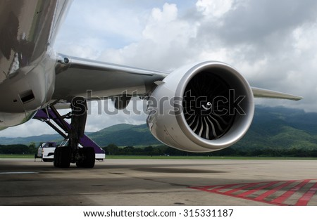 Engine turbine of airplane