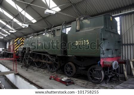 Engine undergoing restoration on the north yorkshire moors