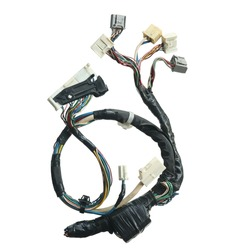 Engine wiring harness (with clipping path) isolated on white background