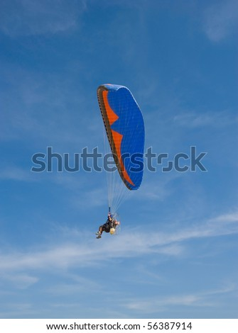 Engine with acute parachute in mid air